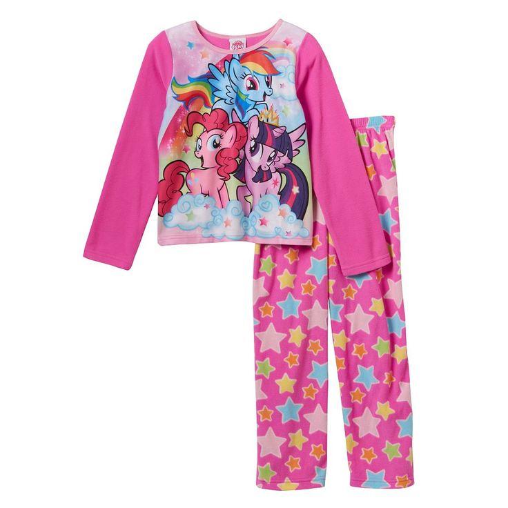 Girls 4-10 My Little Pony Fleece Lovely Pajama Set, Pink