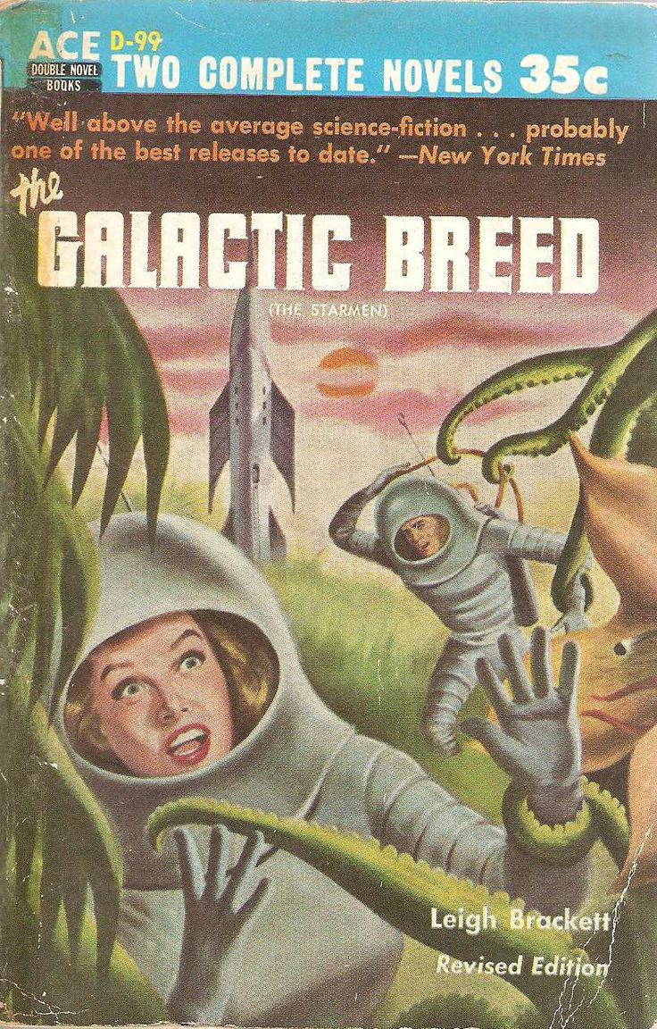 Comic Aun Book Cover Illustration Ver ~ Leigh brackett the galactic breed first published in