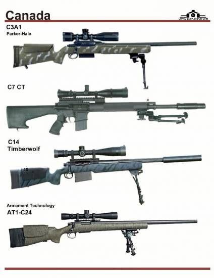 Канада: C3A1, C7 CT, C14 Timberwolf, Armament ...
