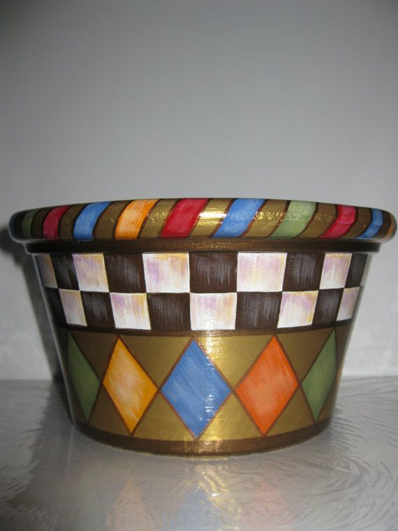 Whimsical Terracotta Planter /Country by PleasureForTheSOUL, $40.00