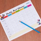 Weekly Meal Planner for diabetic kids (could work for other families too) with Disney characters on it.
