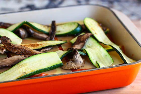 Portobello and Summer Squash Lasagna Recipe