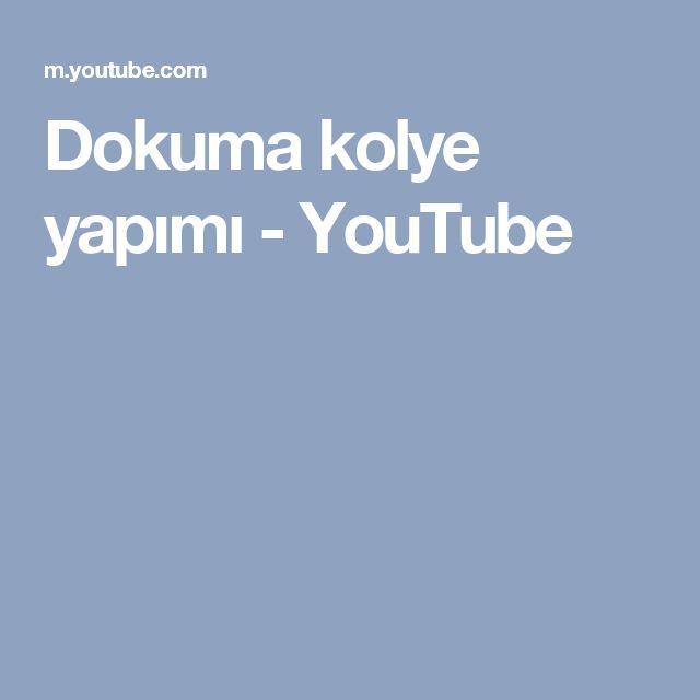 Dokuma kolye yapımı - YouTube