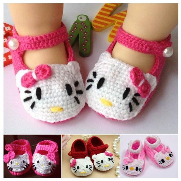 Hello Kitty Crochet Slippers