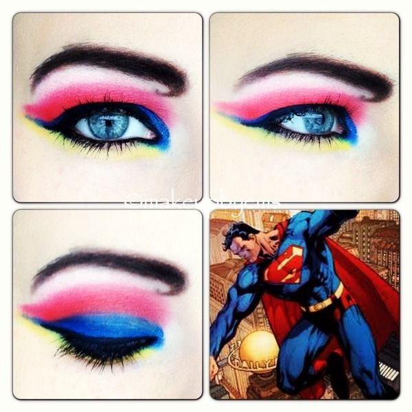 Superman comic makeup look!! Faith this may be easier to do on you!