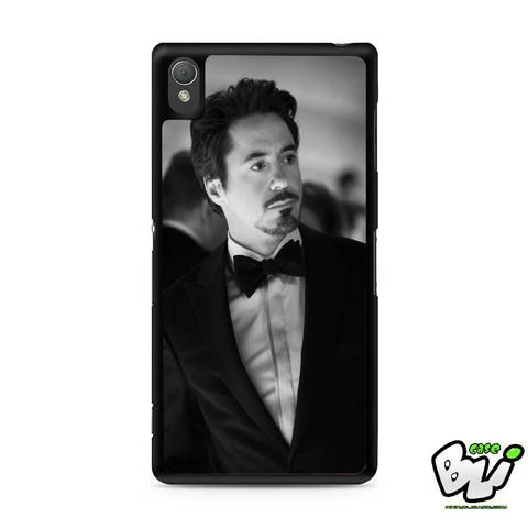 Actor Robert Downey Jr Sony Experia Z3,Z4,Z5,C3,C4,E4,M4,T3 Case,Sony Z3,Z4,Z5 MINI Compact Case