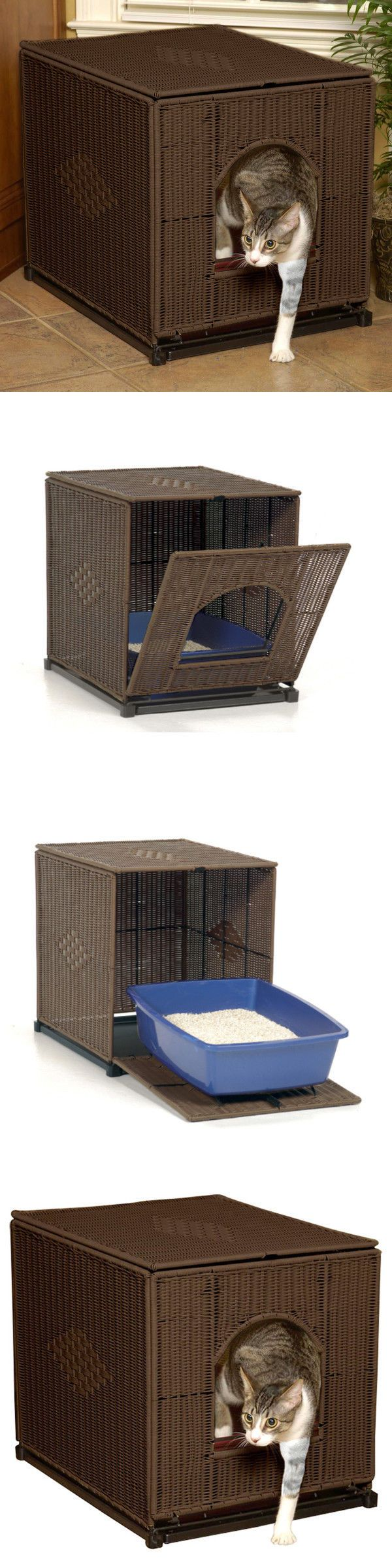 Litter Boxes 100411: Hidden Kitty Litter Box Cover Enclosure Crate Wicker Like Extra Large Jumbo Cat -> BUY IT NOW ONLY: $110.17 on eBay!