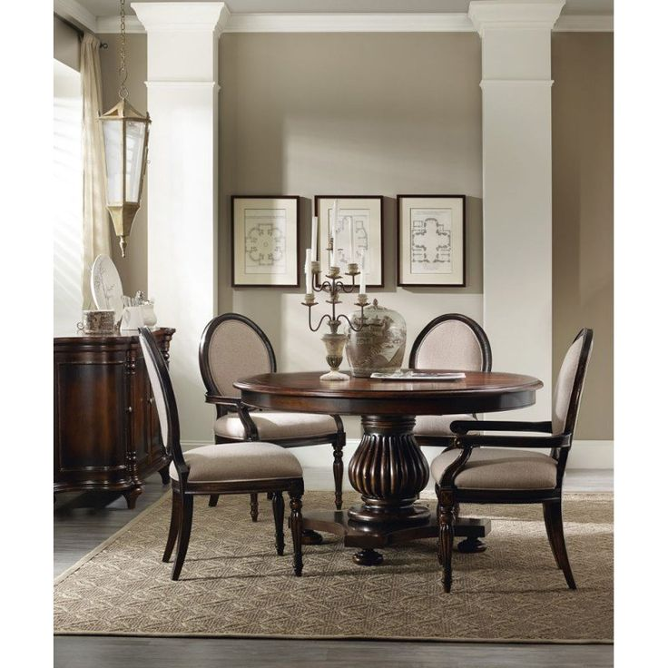Hooker Furniture Eastridge 54 Inch Round Pedestal Dining Table  HO 5177 75206,