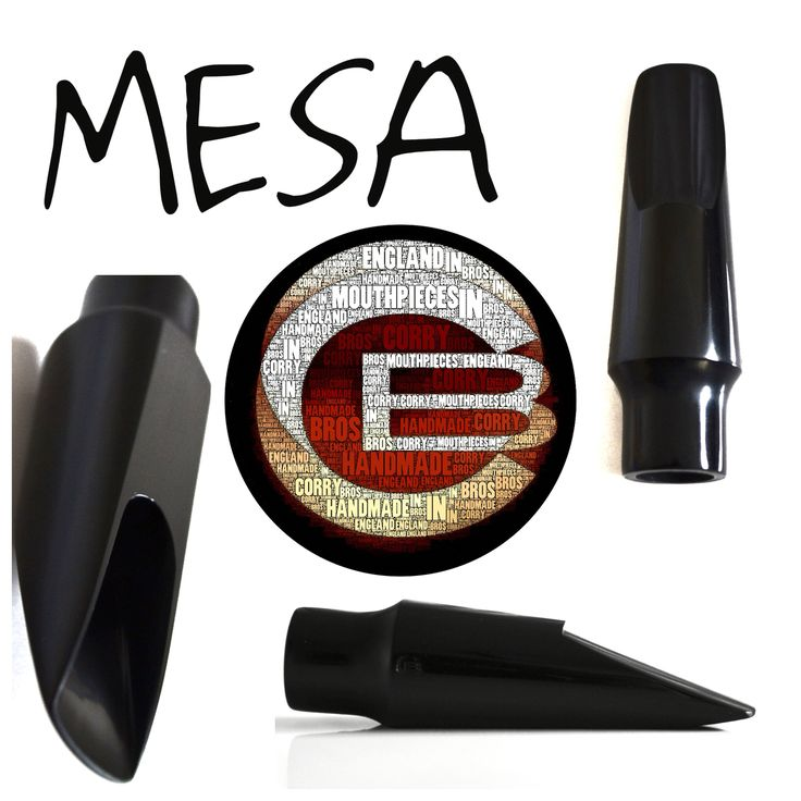 """Our """"MESA"""" ebonite Tenor saxophone mouthpiece. Slightly darker and richer tone than our 'Caldera' model. Tone to die for and Handmade in England. #sax #saxophone #mouthpiece #handmadeinEngland #corrybros #mesa #toneisEVERYTHING"""