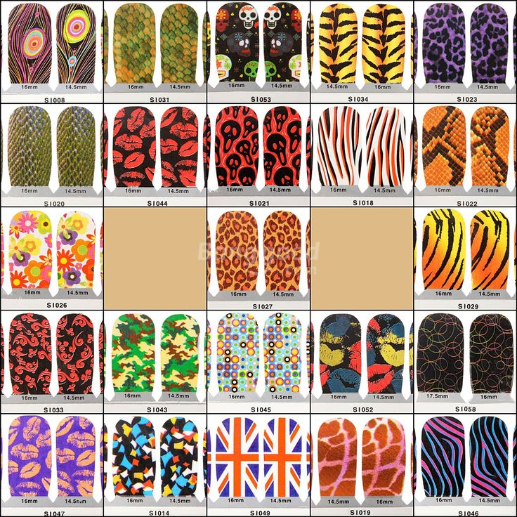 16 best nail art sticker images on Pinterest | Nail art stickers ...