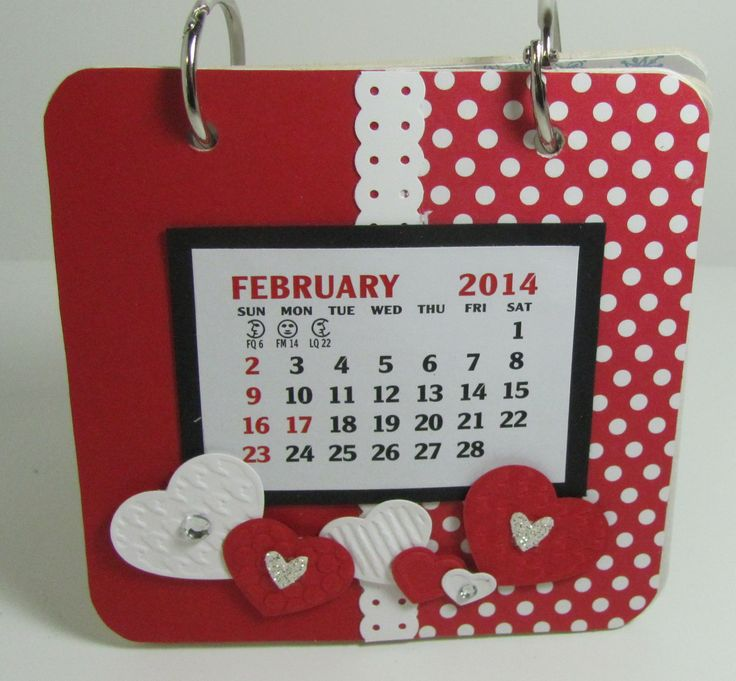 Calendar made with chipboard coaster - monthly class project