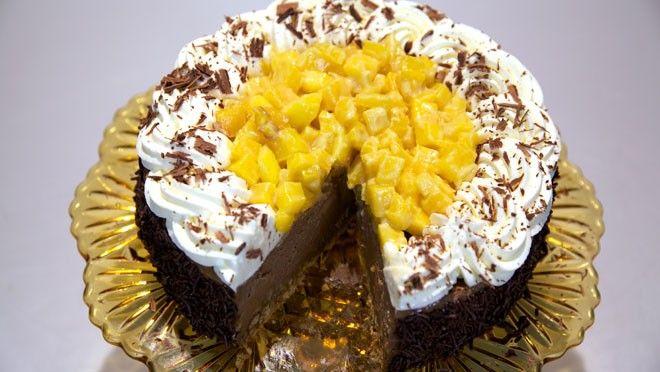 Chocolade cheesecake met gebakken mango - Rudolph's Bakery | 24Kitchen