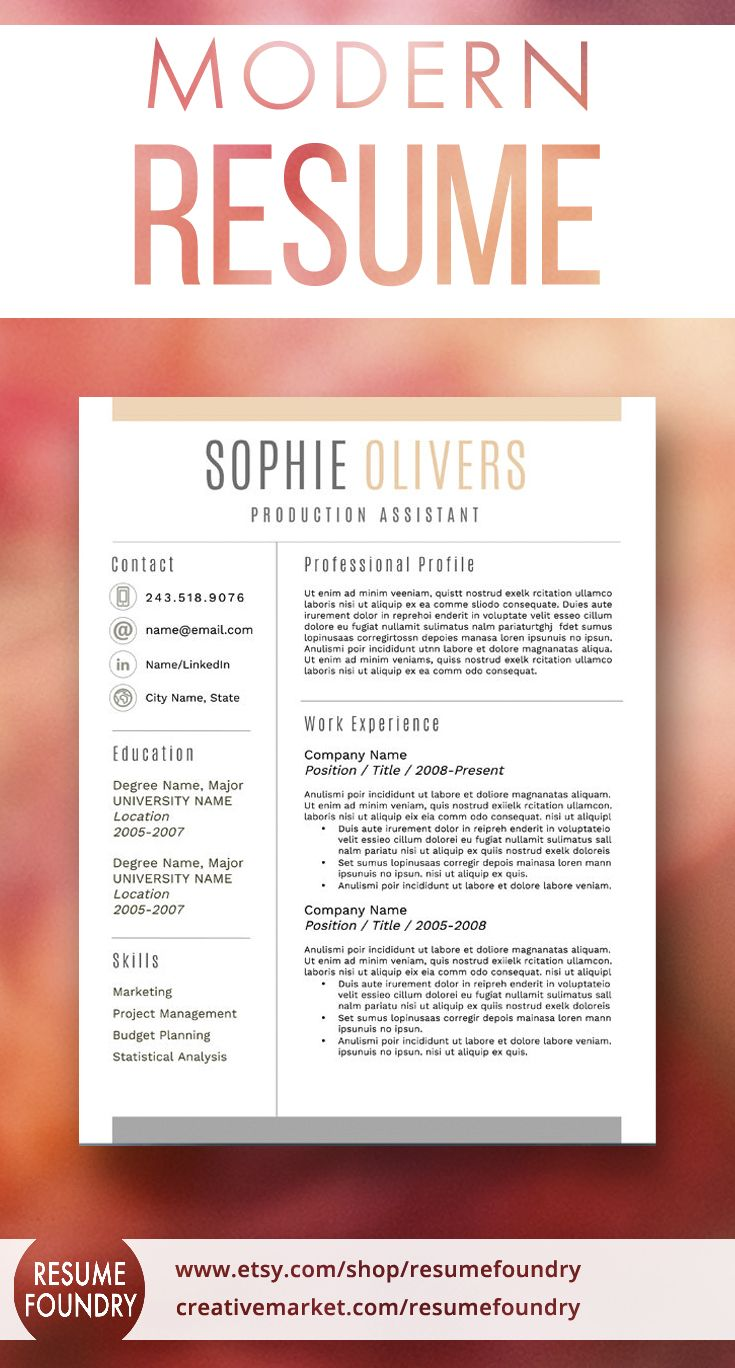Best Modern Resume Templates Images By Resume Foundry On
