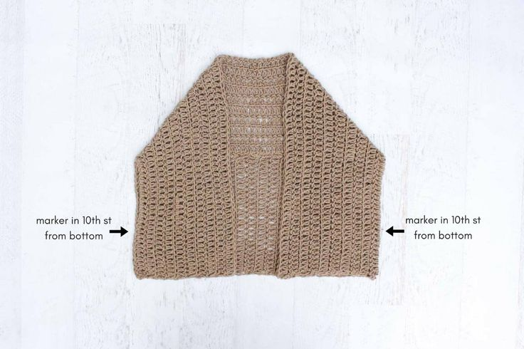 How to crochet a simple cardigan sweater with double crochet. Photo tutorial and step by step instructions.