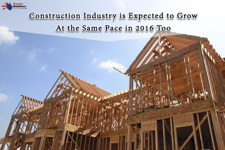 #Construction industry is expected to grow at the same pace in 2016 too...