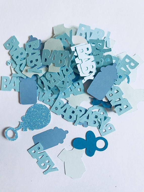 50 it's a boy baby shower blue party table decorations confetti gender reveal