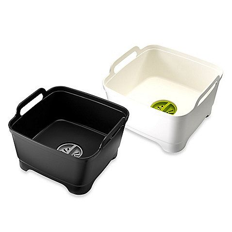 Joseph Joseph® Wash and Drain Wash Bowl.  Nifty! a Portable sink.  For $25.00 at Bed Bath & Beyond.