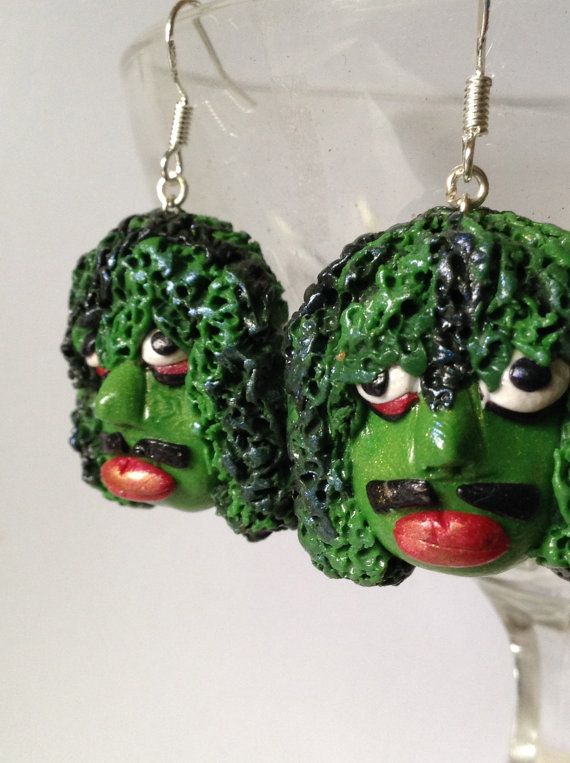 Old Gregg Dangle Earrings inspired by the Mighty Boosh, made from polymer clay and sterling silver. on Etsy, $12.00 AUD