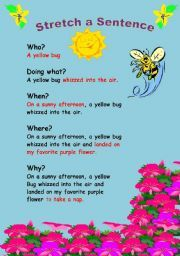 English teaching worksheets: Word order. This is a good worksheet to teach students how to make more complex sentences. It would only be for younger kids and it would be expensive to print that in color.