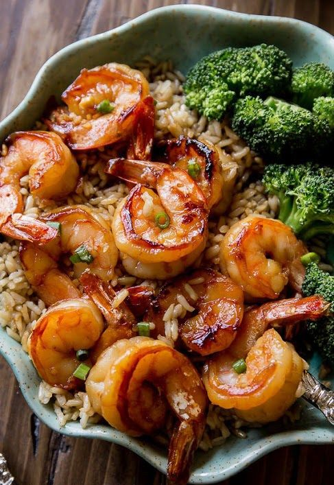 Recipes-Fitness   20 Minute Honey Garlic Shrimp