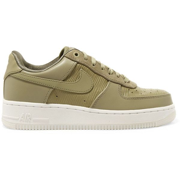 Air Force 1 07 Lx Baskets Basses Nike Air Force 1 07 Lx Suede Trimmed Leather Sneakers 97 Liked On Polyvore Featuring Shoes Sneakers Laced Up Shoes Olive Sneakers Leather Shoes Lace Avec Images