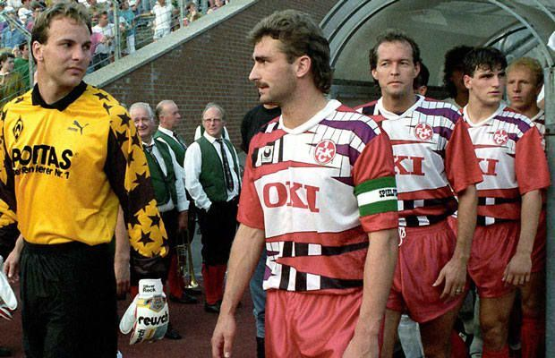 46. 1991 FC Kaiserslautern Home - The 50 Best Soccer Kits of All Time | Complex UK