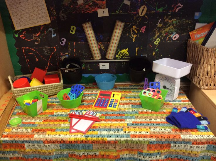 The maths investigation area, covering 40- 60 months and the ELG for number, shape, space and measure.