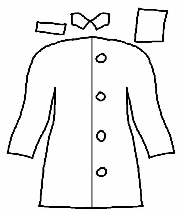 Rain Coloring Pages: Rain Coat Long And Cool Coloring Page
