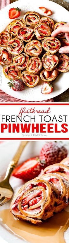 These French Toast Pinwheels are the cutest, tastiest thing ever and way easier than traditional French Toast roll ups! I made them for a brunch and everyone loved them!