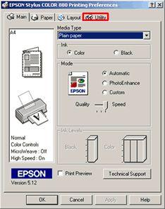 Come si utilizza l'utility per la pulizia delle testine in Windows 2000 o XP?