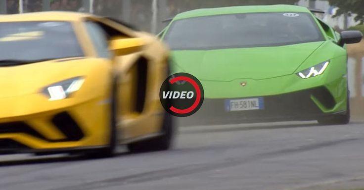 Lamborghini Huracan Performante And Aventador S Make Some Noise At Goodwood FoS #Goodwood #Lamborghini