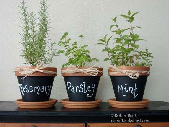 Personnaliser vos pots à herbes aromatiques