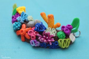 polymer clay coral reef - Google Search