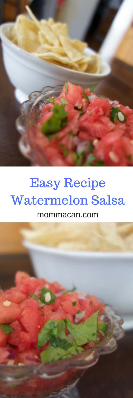 Yummy watermelon salsa recipe, perfect for tacos, grilled meats and as a fun addition to your salsa bar.  It tastes fantastic and is super easy to make.