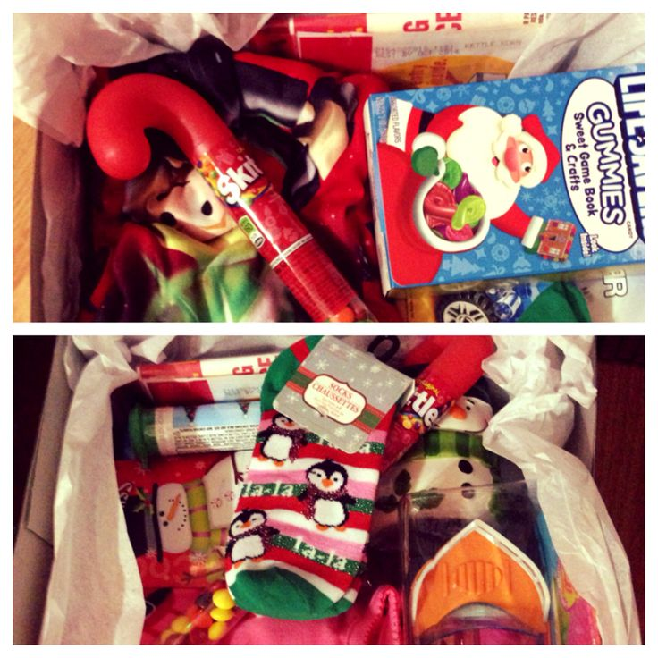 Christmas Eve boxes for the kids. Pajamas, a toy, stickers, Christmas socks, hot cocoa, a christmas mug for the hot cocoa, candy, and popcorn, all in a cute gift box. Fill with whatever you like but this is what these kiddos love!