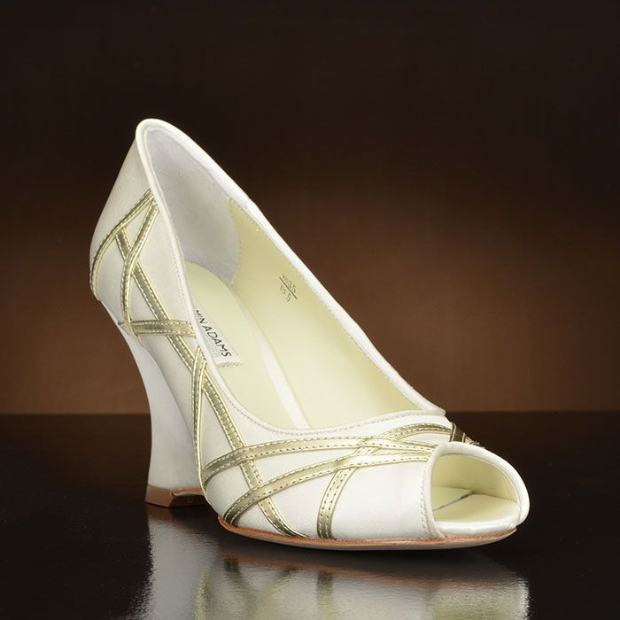This all over ivory duchess silk shoe is Veronica, which