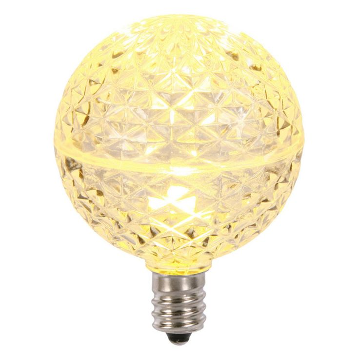 Vickerman Faceted G50 LED Replacement Bulb - Set of 5 - XLED5G51