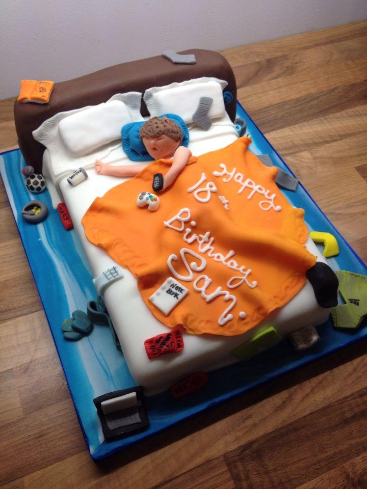 Messy Bedroom Teenager Cake 18th Birthday Mudpiecakes
