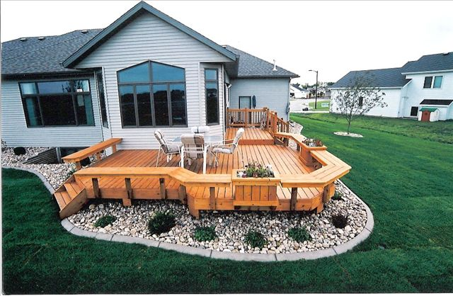 Maybe we can do something similar, but since our current deck is the whole back of the house we wouldn't need a wrap around...