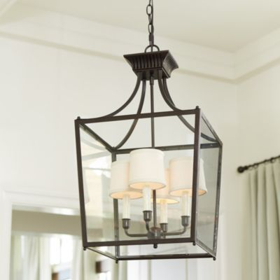 sheffield 4 light chandelier fabric shades the shade
