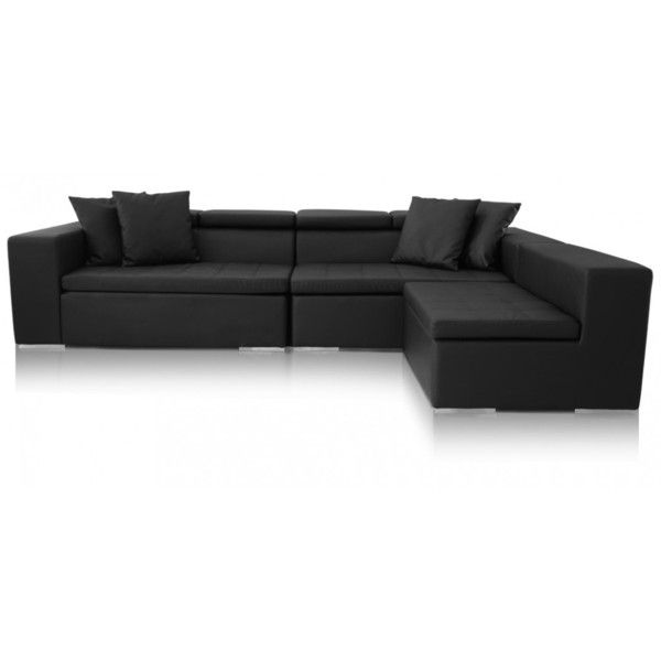 modern sectional black leather sofas liked on polyvore featuring home furniture sofas