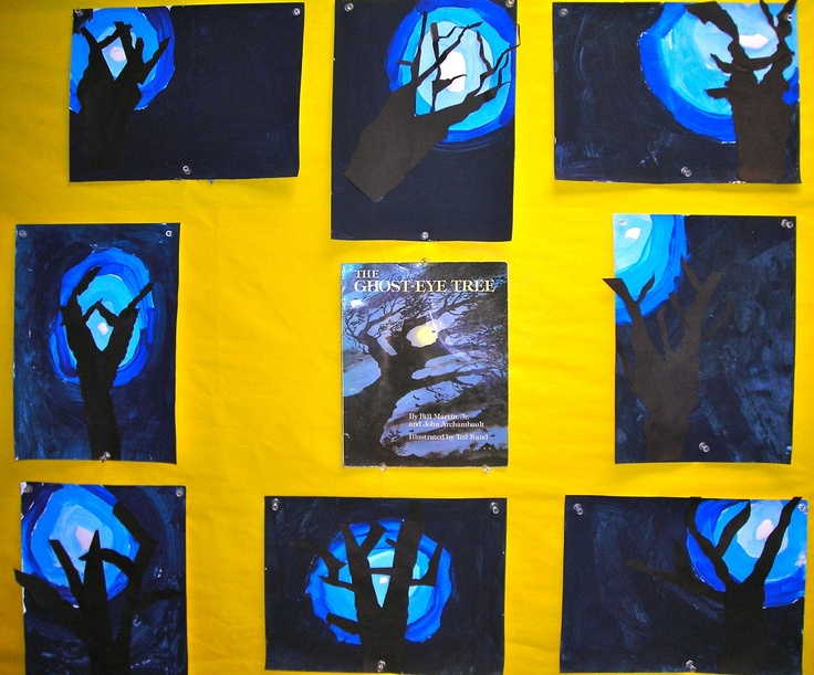 spooky Halloween trees: Art Ideas2, Crafts Art, Halloween Trees, Halloween Crafts, Ghosts Eye, Schools Art, Eye Trees, Halloween Art, Art Projects