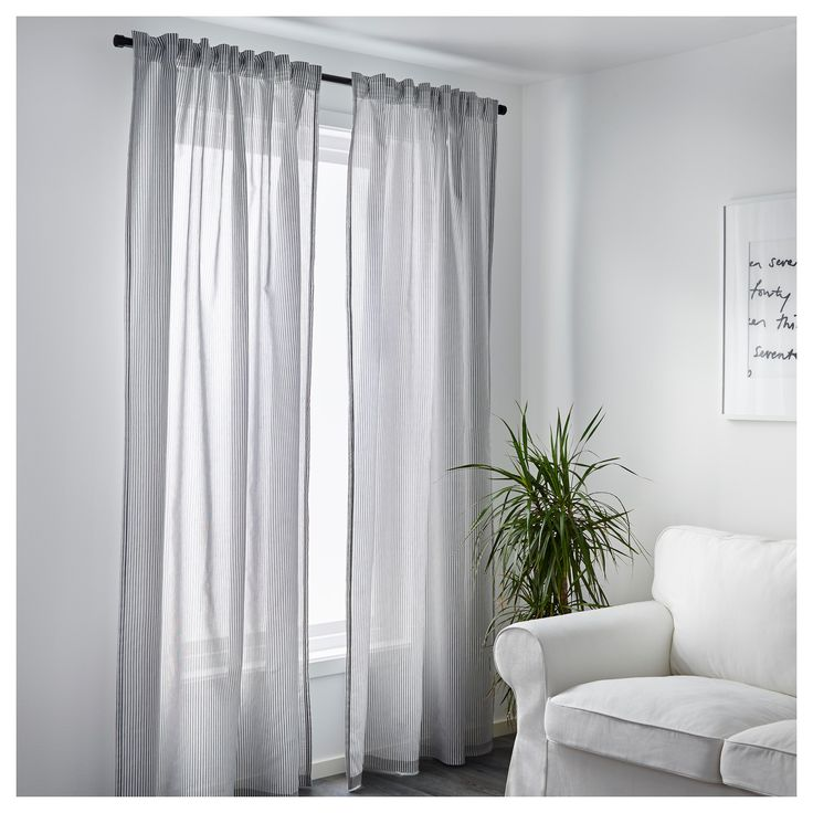 IKEA GULSPORRE curtains, 1 pair The curtains can be used on a curtain rod or a curtain track.