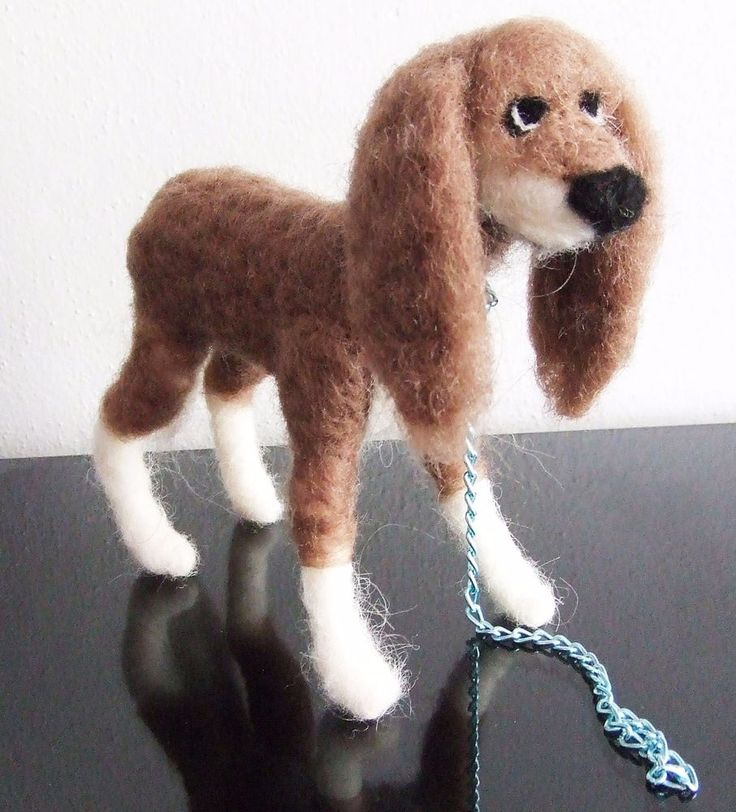 sweet Dog  needle felted miniature beautiful animal toys  handmade #1 #nutka_art #AllOccasion