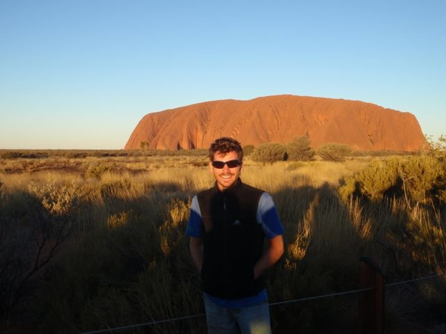 Visiting Uluru, a LONG way from anywhere, but definitely worth the drive and much more than a big rock! #greatwalker