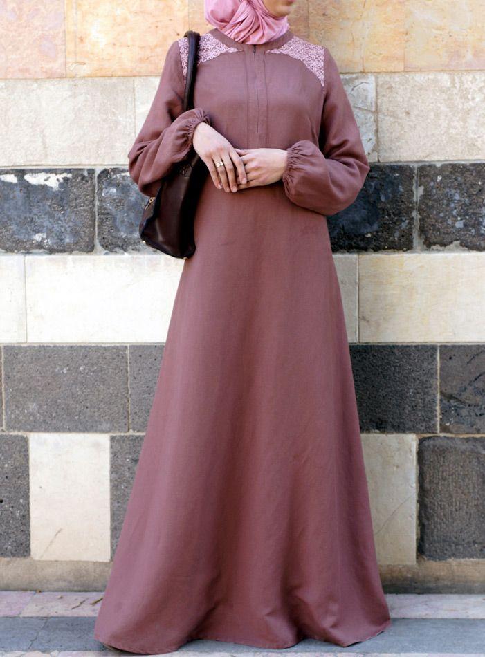 SHUKR Islamic Clothing| Jamilah Embroidered Dress