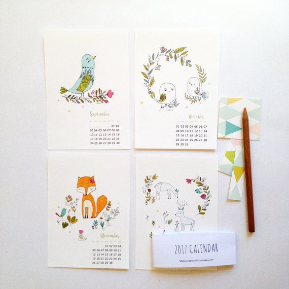 Best Illustrated Wall Calendars Images On   Calendar