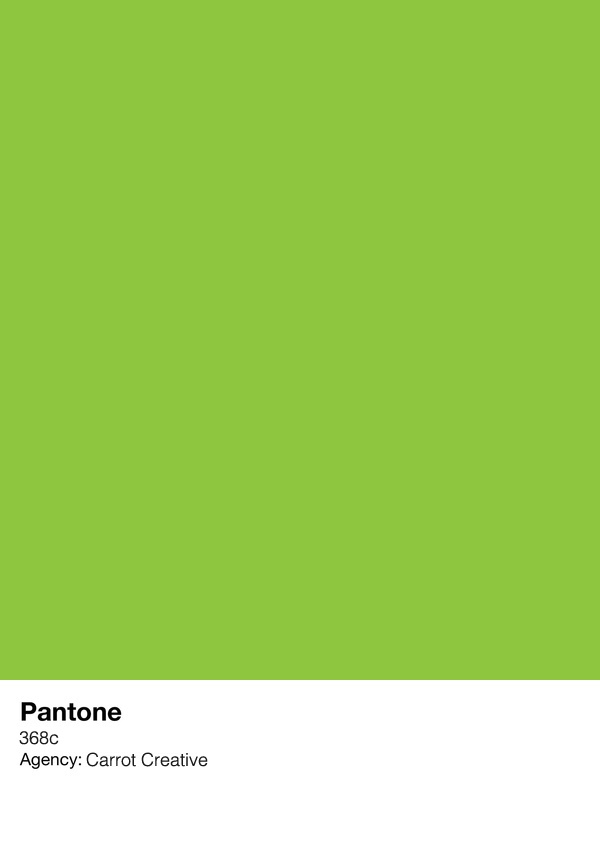 Carrot Creative Green (pantone concept via Max Davies ...