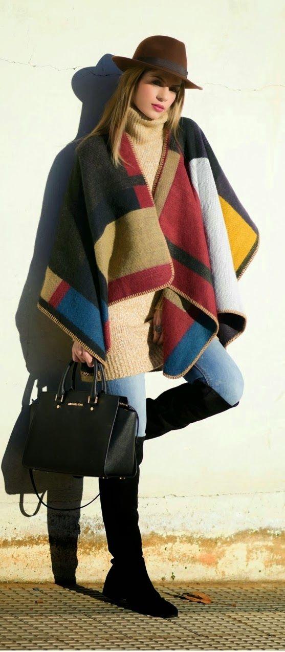 Oversized Blanket Poncho   Lovely Hat