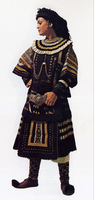 FolkCostume&Embroidery: Costume of the Sarakatsani or Karakachani, Greece